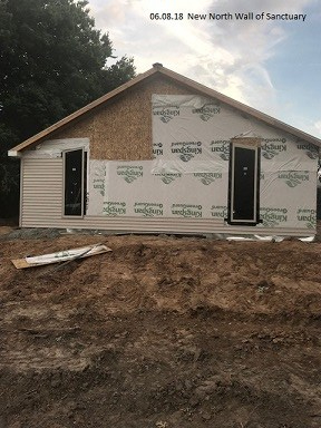 06.08.18 New North Wall of Sanctuary