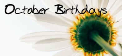 ctober birthdays